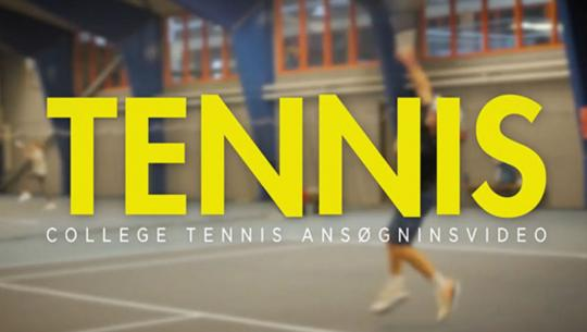 Tennis college video